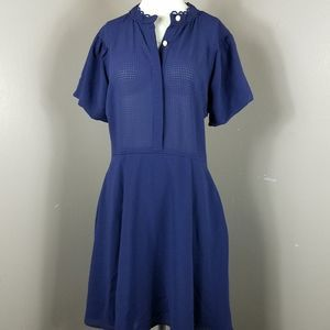 Cynthia Steffe Fit and flare Blue Dress Size 6